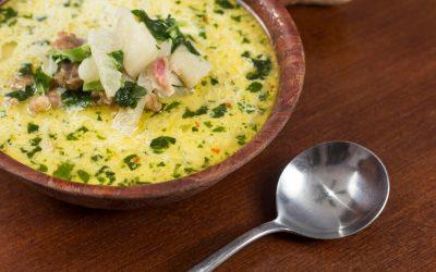 Lemony Chicken Kale Soup
